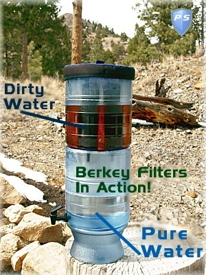 how berkey filters water