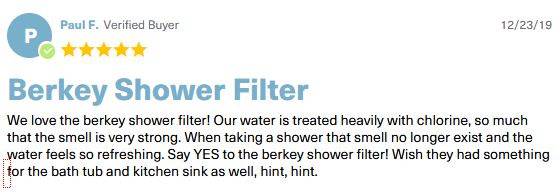 shower berkey reviews